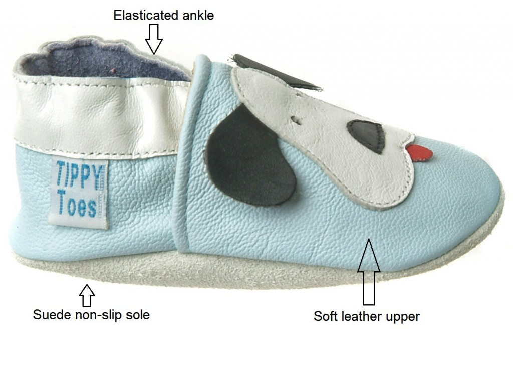 Tippy Toes leather baby shoe